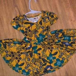 Dot Dot Smile mustard floral dress